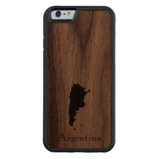 Map of Argentina: Classic Design Carved Walnut iPhone 6 Bumper Case