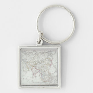 Map of Asia 2 Key Chains