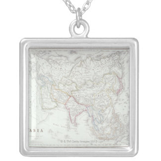 Map of Asia 2 Necklace