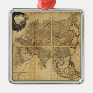 Map of Asia and it's Islands (1799) Silver-Colored Square Ornament
