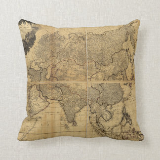 Map of Asia and it's Islands (1799) Throw Pillow