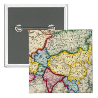 Map Of Asia Pinback Button