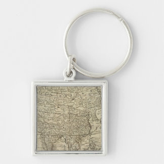 Map of Asia Keychains