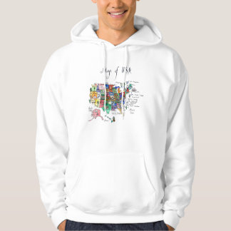 Map of Attractions of United States of America Hoodie