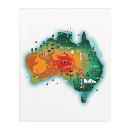 Map Of Australia Acrylic Print