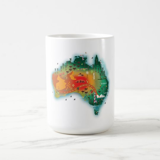 Map Of Australia Coffee Mug