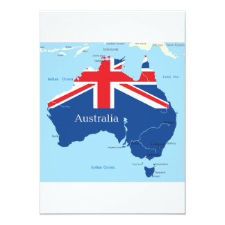 Map Of Australia Invitations