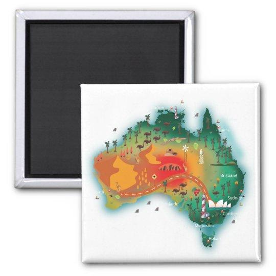 Map Of Australia Magnet