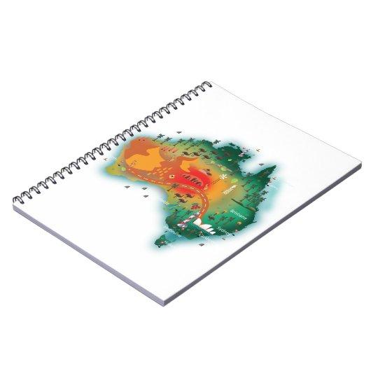 Map Of Australia Notebook