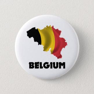 Map Of Belgium 2 Inch Round Button