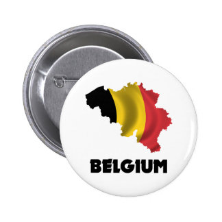 Map Of Belgium 2 Inch Round Button
