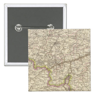 Map of Belgium and Luxembourg 2 Inch Square Button