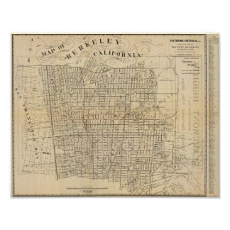 Map of Berkeley, California Poster