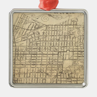Map of Berkeley, California Silver-Colored Square Ornament