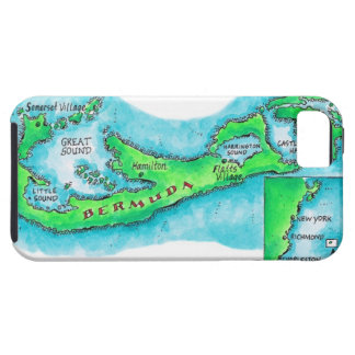 Map of Bermuda Case For The iPhone 5