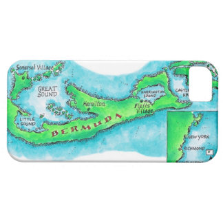 Map of Bermuda iPhone 5 Cover