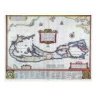 Map of Bermuda Postcard