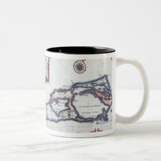 Map of Bermuda Two-Tone Coffee Mug