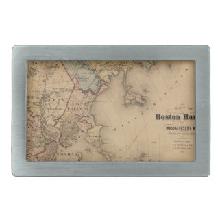 Map Of Boston 1861 Belt Buckles