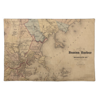Map Of Boston 1861 Placemat