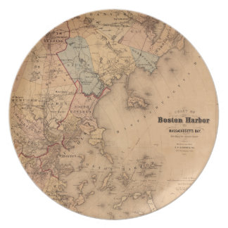 Map Of Boston 1861 Plate