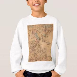 Map Of Boston 1861 Sweatshirt