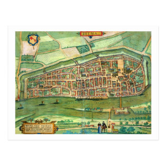 Map of Bremen, from 'Civitates Orbis Terrarum' by Postcard