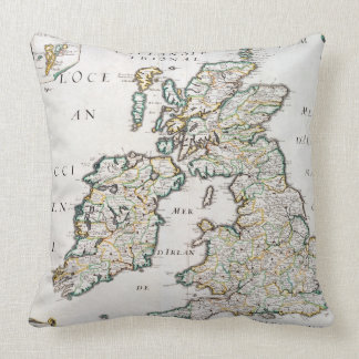 Map of Britain and Ireland, published Paris 1640 ( Throw Pillow