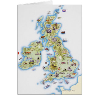 Map of British Isles Card