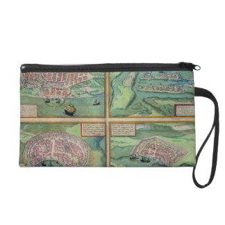 Map of Calais, Malta, Rhodes, and Famagusta, from Wristlet Clutch