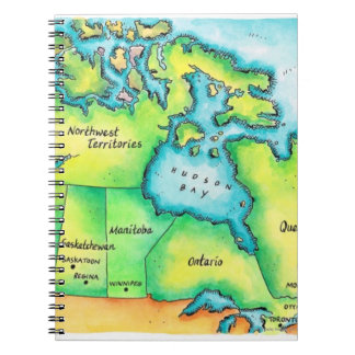 Map of Canada 2 Note Books