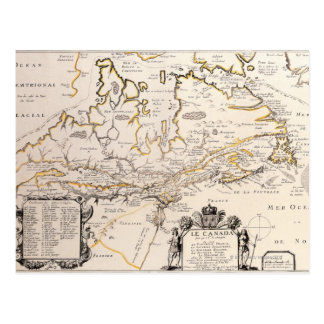 Map of Canada Postcard