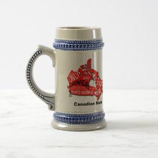 Map of Canada Stein Mug