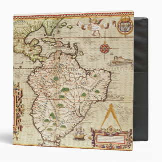 Map of Central and South America Vinyl Binders
