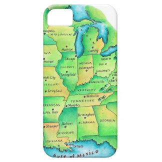 Map of Central United States iPhone 5 Cases