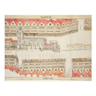 Map of Cheapside, London, 1585 Postcard