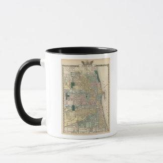 Map of Chicago City Mug
