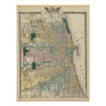 Map of Chicago City Poster