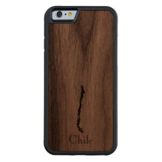 Map of Chile: Classic Design Carved Walnut iPhone 6 Bumper Case
