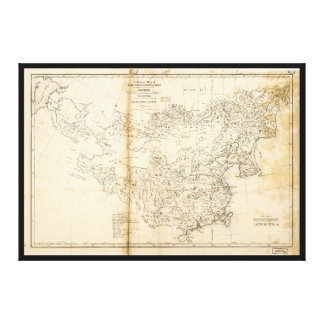 Map of China Chinese-Tartary & Tibet (1834) Canvas Print