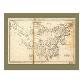 Map of China Chinese-Tartary & Tibet (1834) Postcard