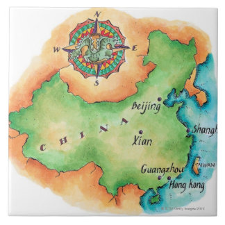 Map of China Tile
