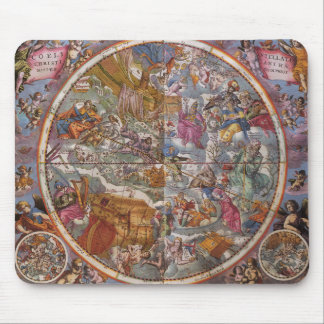 Map of Christian Constellations, Southern Skies Mouse Pad