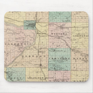 Map of Columbia County, State of Wisconsin Mouse Pad