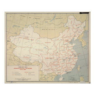 Map of Communist China (March 1956) Poster