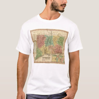 Map of Connecticut (1834) T-Shirt