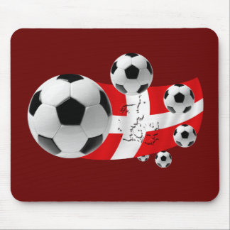 Map of Denmark 2012 soccer lovers flag and balls Mouse Pad