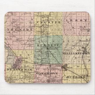 Map of Dodge County, State of Wisconsin Mouse Pad