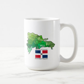 Map of Dominican Republic Coffee Mug