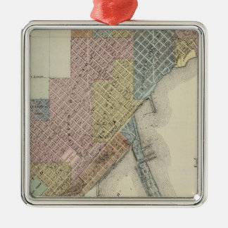 Map of Duluth, St. Louis County, Minnesota Metal Ornament